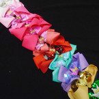 "5"" Gator Clip Bows w/ Sequin Bow & Sparkle Crown 12 per pk .54 each"
