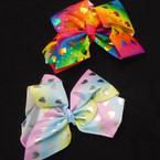JUMBO Gator CLip Bows 2 Metallic Styles As Shown 12 per pack $ 1.00 each