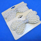 "3.5"" 2 color Pearl w/ Crystal Stone Gator Clips   .54 each"