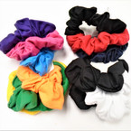 3 Pack Regular Size Mixed Color  Cotton Scrungi  .54 per set