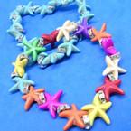 Popular Starfish Stretch Bracelets w/ Mini Cry. Stones 2 colors .54 each