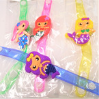 Light Up Flashing Kids Mermaid Bracelets 12 per pk .56 each