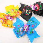 "5"" Layered Gator Clip Bows Unicorn Theme .54 each"