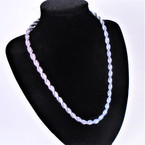 "Rodium Silver Color Color 16"" Fashion Rope Chain Necklace 12 per pk .56 each"