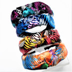 Tropical Pattern Satin Headbands w/ Knot on Top .54 each