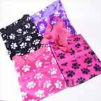"5"" X 7"" Paw Print  Zipper Side Bag w/ Long Strap 12 per pk  .45 each"