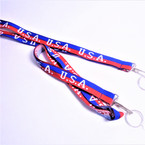 "34"" USA Theme Lanyard w/ Keychain Holder 12 per pk  .54 each"
