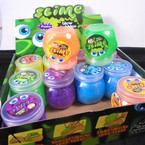"3"" Colorful Glitter Slime 12 per display bx .58 each"