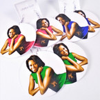 """3"""" Round Michelle Obama Fashionable Wood Earring .54 each pair"""