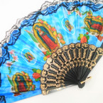 Guadalupe Picture Theme Fan Lace Fans 12 per pk .54 each