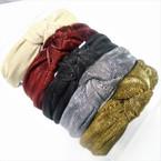 Shiney Metallic  Headbands w/ Knot on Top .54 each