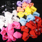 "3.5"" Gator Clip Bows w/ Shiney Mini Bow 24 per pk ONLY .25 each ni Bow 24 per pk ONLY .25 each"