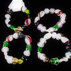 Asst Style Glass Beaded Fashion Stretch Bracelets .56 each