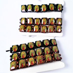 3 Pack Guadalupe Picture Wood Stretch Bracelet  .56 per set
