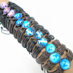 Teen Leather Bracelets w/ Dolphin Theme .54 ea