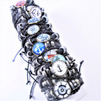 Multi Strand Teen  Leather Bracelets  Nautical Theme 12 per pk  .54 each