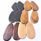 "2.5""-3"" Wood Earring Mix Asst Natural Colors & Shapes .54 per pair"