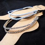 2 Pack  Gold & Silver Stretch Rhinestone Anklets .54 per set