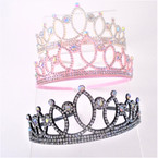 3 Color Crystal Stone Tiara Headbands .54 each