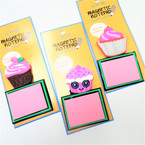 "4"" Magnetic Notepad Cup Cake Theme 12 per pk   .56 each"