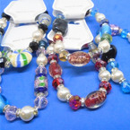 Asst Style Glass Beaded Fashion Stretch Bracelets (3431)  .56 each