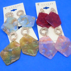Cool Ice Cube Look Glitter Fashion Earrings .54 per pair
