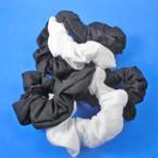 3 Pack Black & White Color Cotton Hair Twisters .54 per set
