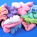 3 Pack Mixed Pastel  Color Cotton Hair Twisters .54 per set