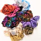 2 Pack Shiney Metallic Hair Scrungi's Mixed Colors   .54 per setney Metallic Hair Scrungi's Mixed Colors   .54 per set
