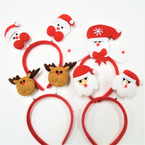 4 Style  Bobble Christmas Headbands  .56 each