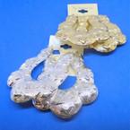 "2.75"" X 3"" Chunky Size Gold & Silver  Metal Pincatch Earrings   .54 per pair"