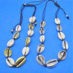 "16"" Gold & Silver Plus Reg. Cowrie Shell Choker Necklaces .60 each"