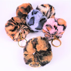 "3"" Animal Print Faux Fur Fashion Keychains .56 each"