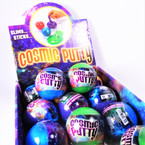 "2.5"" Round Slimy Sticky Cosmic Putty 12 per display bx .58 each"