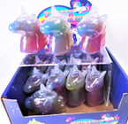 "3"" Mulit Color Unicorn Theme Slime 12 per display bx .58 each"