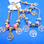 Pandora Style Charm Bracelets Gold/Silver w/ Tree of Life Theme  .56 ea