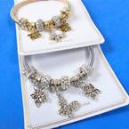 Gold & Silver Spring Style Bracelet w/ Butterfly w/ Crystals  Theme  .58 ea