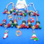 Pandora Style Christmas Charm Bracelets  (2114)   .56 ea