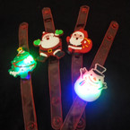 Christmas Theme Light Up Kid's Bracelets 4 styles per dz .56 each