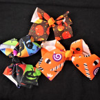 "5"" Halloween Theme Gator Clip Bows 3 styles per dozen"