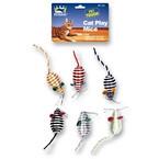4 Pack Mice Cat Toys Asst Colors 6 sets per pk .85 each set