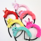 Too Cute Fury Sparkle Cat Theme Headbands 6 colors .54 each