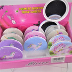 Unicorn Theme Round DBL Compact Mirror in Display (2633) .56 each