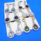 Classy Tear Drop  Style Fashion Earrings w/ Crystal  Stones .54 per pair
