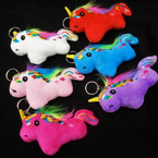 "5"" Plush Unicorn Keychains 6 colors .58 each"