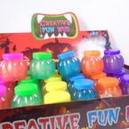 "2"" Pumpkin Shaped Fun Slime 24 per display Only .35 ea"