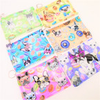 "5.5"" Sassy Dog Zipper Coin Purse w/ Keychain .56 each"