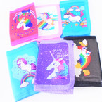 Kid's Tri Fold Unicorn Theme Wallets 6 styles  .58 each