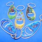 "3"" Metal Surf Board Look Bottle Opener Bahamas Theme Keychains .54 each"