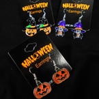 3 Style Halloween Earrings Epoxy Metal  .54 per pair